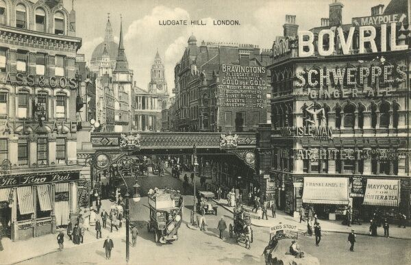 Ludgate Circus and Hill, London