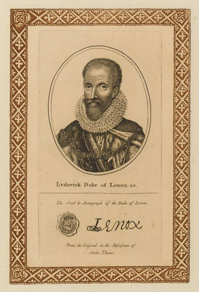 LUDOWICK duke of Lennox, later earl of Newcastle, later duke of RICHMOND - statesman, 'he merited all the honours he received' with his autograph