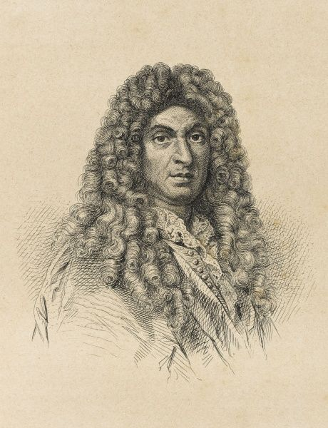 Jean Baptiste Lully, French composer of Italian birth and court musician for Louis XIV of France