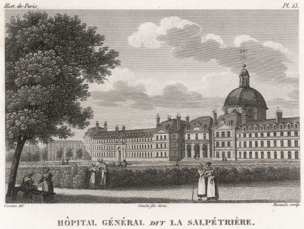 LA SALPETRIERE Asylum founded in 1656, used especially for female patients, and later noted for the studies of hysteria by Charcot and others