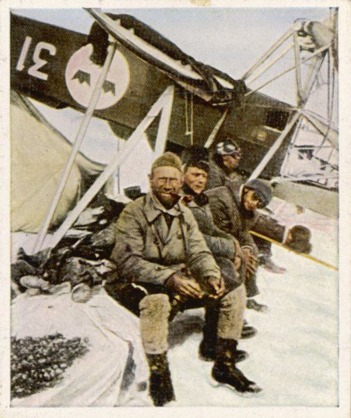 Swedish aviator Lundborg, who previously distinguished him- self in the rescue of Italian aviator Nobile, crashes again in the Arctic, but luckily, not fatally