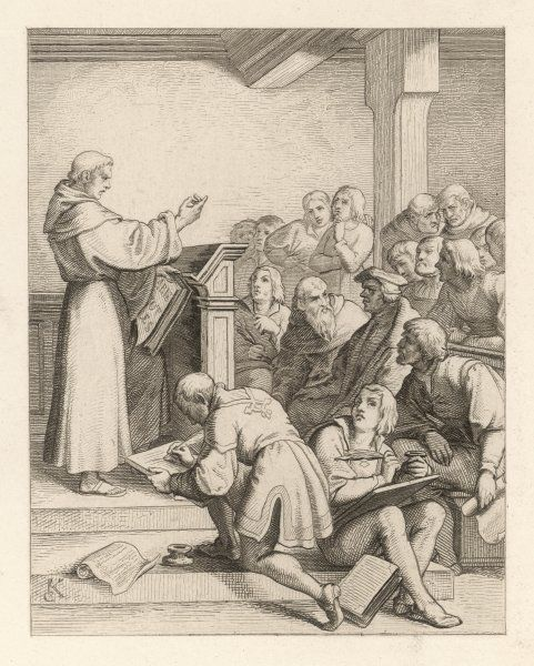 MARTIN LUTHER delivers his baccalaureate lecture