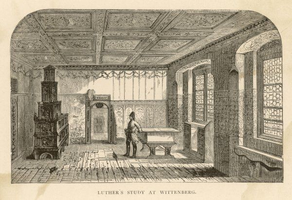 Luther's study in his residence at Wittenberg