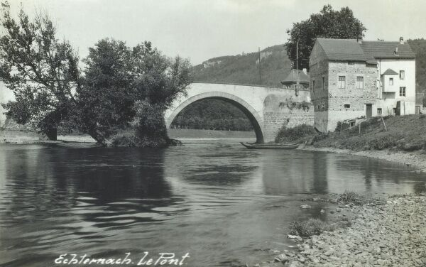 Luxembourg - Echternach - The Bridge over the Sure River Date: circa 1920s