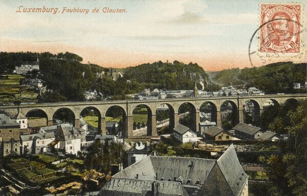 Luxembourg - Viaduct at Clausen