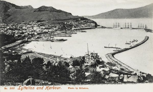 The harbour at Lyttleton, New Zealand