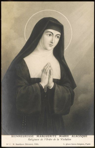 SAINT MARGUERITE-MARIE ALACOCQUE French nun and visionary; canonised in 1920