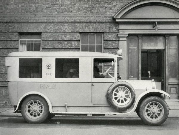 One of the ambulances operated by London's Metropolitan Asylums Board in around 1930