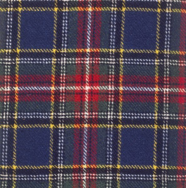 The Macbeth (McBeth) tartan of Scotland. Date: photo taken 1971