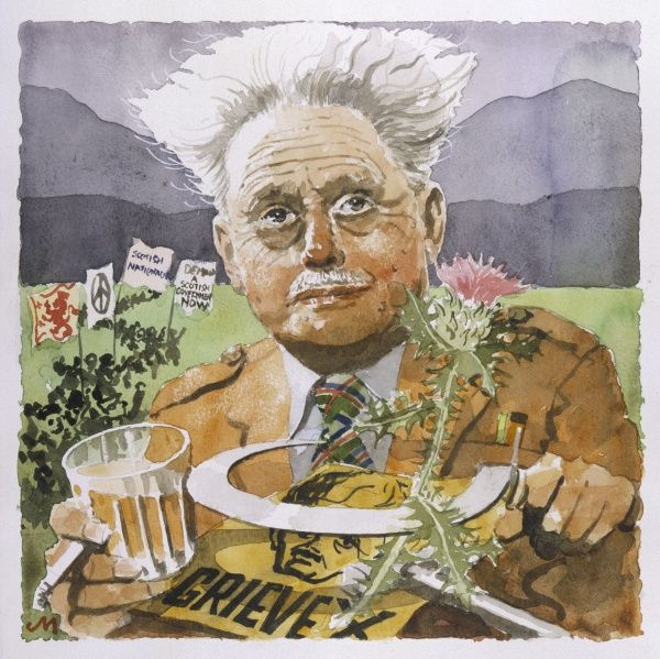 HUGH MACDIARMID alias CHRISTOPER MURRAY GRIEVE Scottish poet who advocated a Scottish literary revival