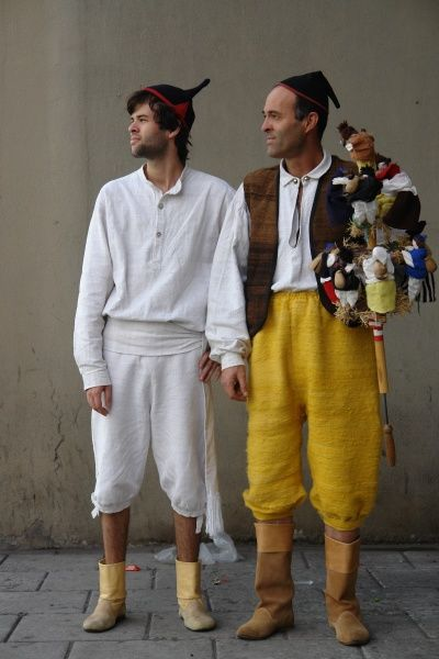 Two young men belonging to a Machico folklore group, wearing traditional costume