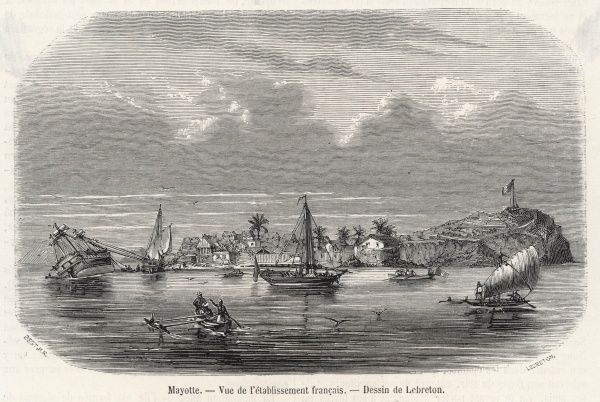 Mayotte, Comoros Islands: harbour scene, French settlement