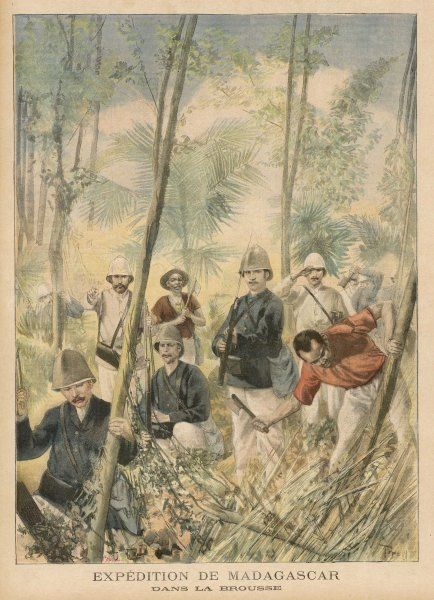 The French explore the jungle in Madagascar as they take control of the island. The Merina monarchy is abolished