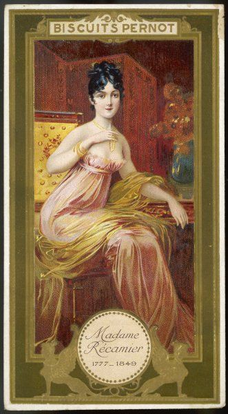 JEANNE-FRANCOISE-JULIE- ADELAIDE RECAMIER nee BERNARD Also known as MADAME RECAMIER, influential French social and political hostess