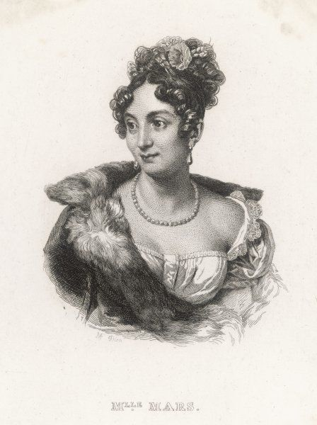 ANNE FRANCOISE HIPPOLYTE BOUTET, mademoiselle MARS French actress admired by Napoleon, specialised in Moliere and Marivaux