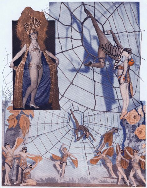 Mado Minty and Spanora in the spider web scene from New York - Paris at the Casino de Paris, 1927 Date: 1927