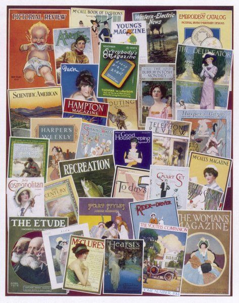 Selection of American magazine covers - including most of the best-known journals of the period