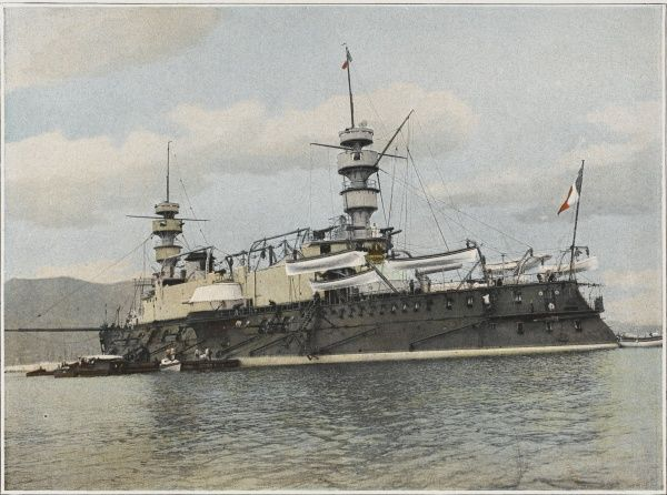 French warship with a crew of 700