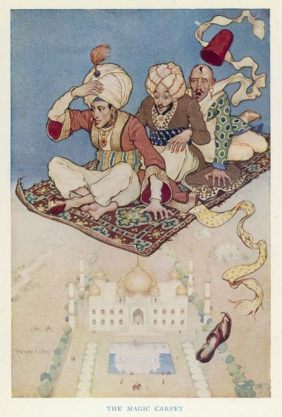 The Magic Carpet, favoured transport system of the Arabian Nights
