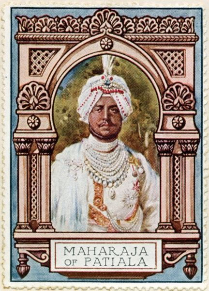 MAHARAJA BHUPINDER SINGH (1891 - 1938) Ruling Maharaja of the princely state of Patiala from 1900 to 1938