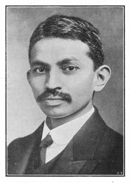 MAHATMA GANDHI A portrait of the Indian statesman and reformer when he was 26