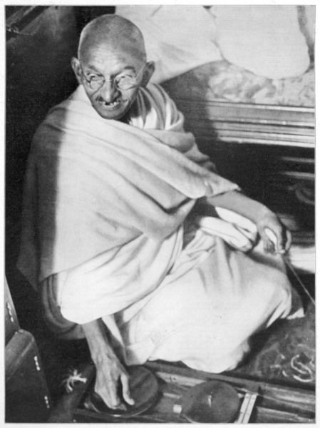 Mahatma Gandhi, Indian nationalist and spiritual leader, sailing from Boulogne to Folkestone on 12 September 1931