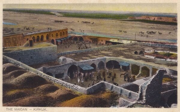 The Maidan (Square) at Kirkuk, Iraq. Kirkuk is the purported site of the tomb of the prophet Daniel. Date: circa 1910s
