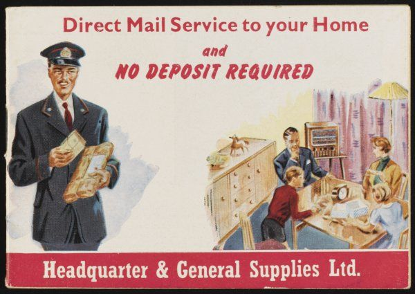 Direct Mail Service to your Home - clothing, tableware and household goods from Headquarters & General Supplies