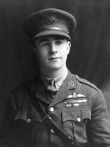 Major James Thomas Byford McCudden (1895-1918), officer and pilot in the Royal Flying Corps during the First World War. He received more medals for gallantry than any other British airman serving in the First World War, including the VC, DSO