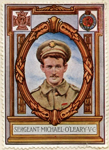 MAJOR MICHAEL JOHN O'LEARY VC (1890 - 1961) Irish recipient of the Victoria Cross, the most prestigious award for gallantry in the face of the enemy that can be awarded to British and Commonwealth forces