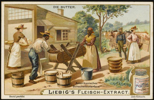 Making butter in the United States