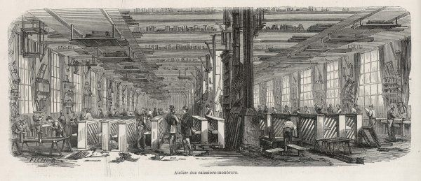 The manufacturing of upright pianos at the Pleyel factory, France
