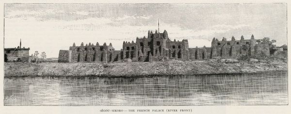 Segou-Sikoro, Mali, West Africa: the French palace viewed from the river