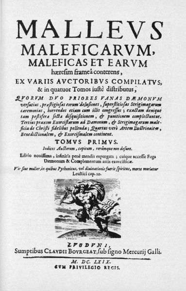 The 'Hammer of witches', authored by Dominicans Jakob Sprenger and Heinrich Kramer, is the most influential book promoting the real existence of the witchcraft heresy