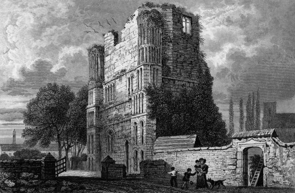 The ruins of Malling Abbey, Kent Date: circa 1830
