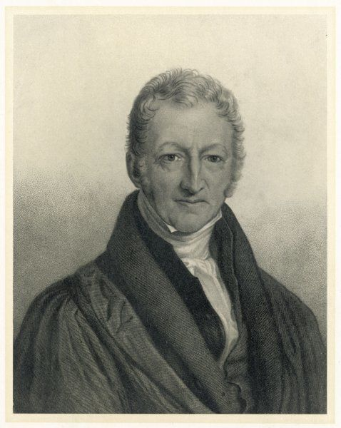 THOMAS ROBERT MALTHUS philosopher, known for study of population
