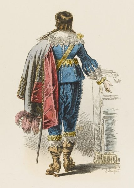 A French noble at the court of Louis XIII, seen from the rear