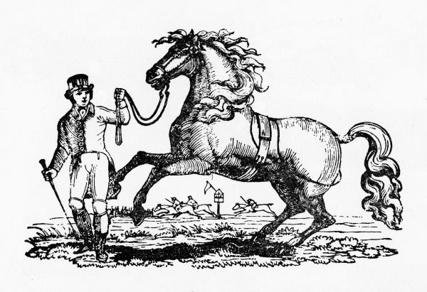 A man and his horse Date: 1825