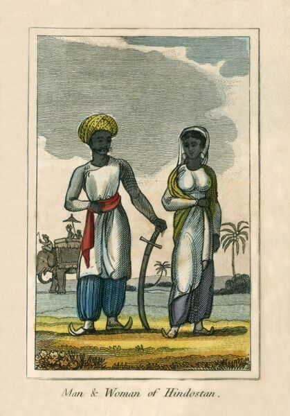 A man and Woman of Hindustan (India). A book of national types and costumes from the early 19th century