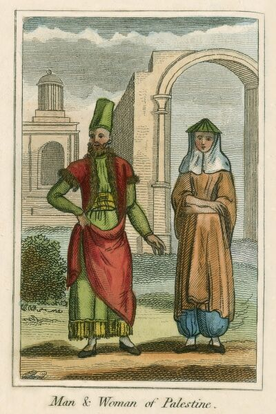A man and Woman of Palestine. A book of national types and costumes from the early 19th century