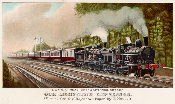 The 'Manchester and Liverpool' express of the London and North-Western Railway
