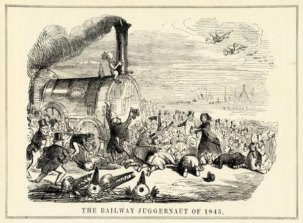 THE RAILWAY JUGGERNAUT OF 1845 Anyone who has any savings, offers them as a sacrifice to the speculators who serve as priests to the Great Railway God