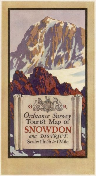 Cover design of an Ordnance Survey Map of Snowdon and District