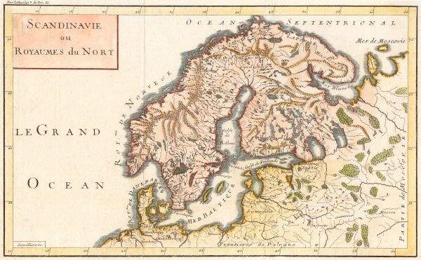 Map of Sweden, Denmark and Norway Date: c1800