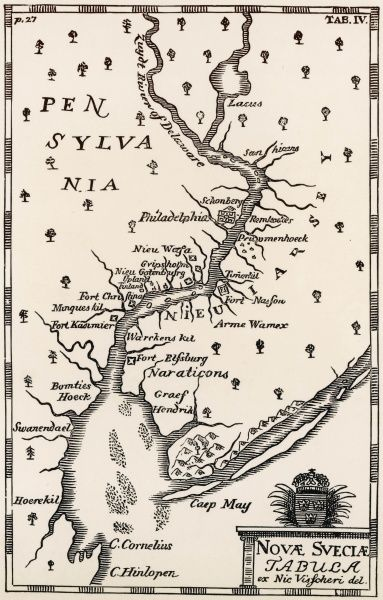 PENNSYLVANIA Late 17th Century map