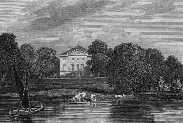 Marble Hall, Twickenham, London (formerly in Middlesex), the seat of Charles Augustus Tulk Esquire. It was built by George II for his mistress, the Countess of Suffolk. Date: 1815