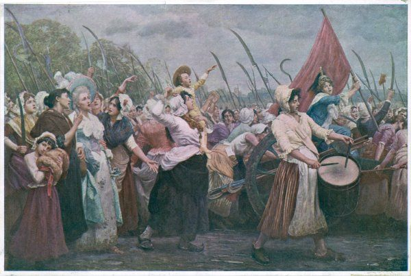 The women of Paris march to Versailles