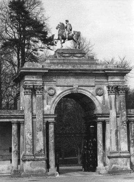 The Marcus Aurelius Gate, at Wilton House, Salisbury, Wiltshire, England. It was designed by Sir William Chambers. Date: 18th century