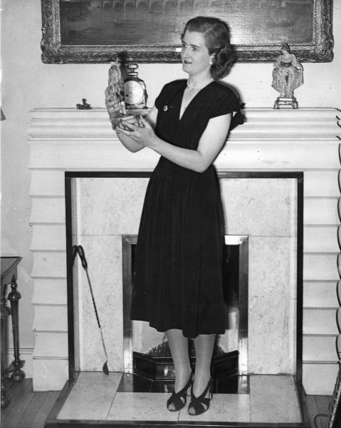 Hon. Margaret Elphinstone (b. 1925), daughter of 16th Baron Elphinstone and a bridesmaid to Princess Elizabeth at the London residence of the Countess of Cavan