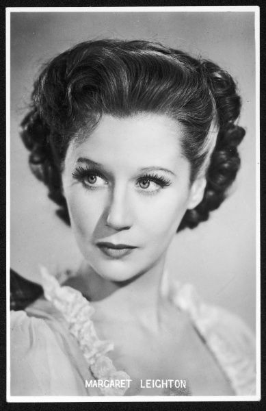 MARGARET LEIGHTON British actress of stage and screen